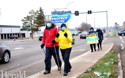 Earth Day demonstrators speak out against coal mining in the Rockies